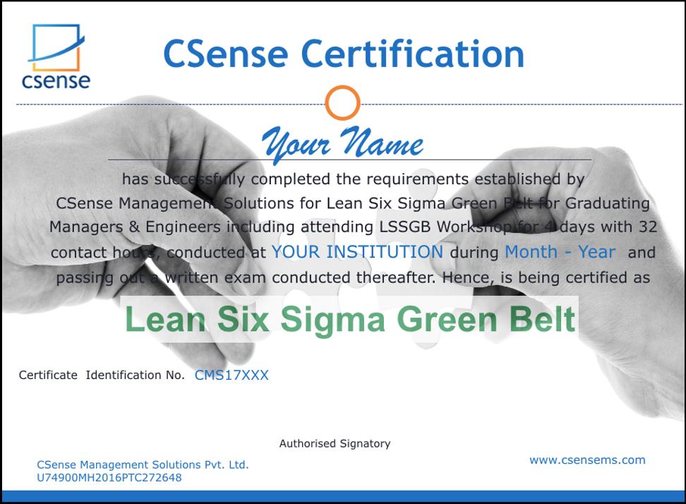 Six Sigma Green Belt for Students
